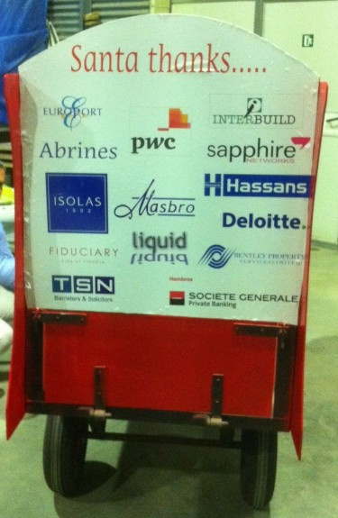 These are our sponsors for the 2011 Santa Pull.   A million thanks to them all as always.